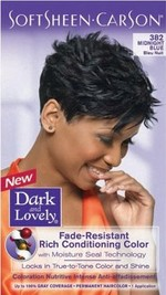 Dark & Lovely hair dye color Midnight Blue
